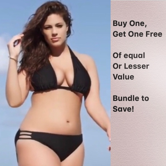 Swimsuits For All Other - BLACK TRIANGLE TRIPLE STRING BIKINI